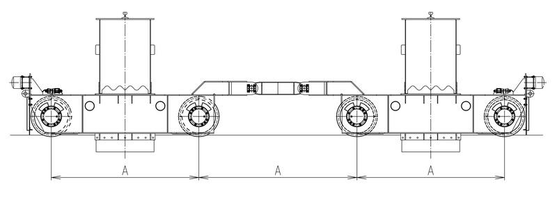 Схемы размещений ходовых колес