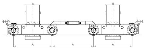 Новая рациональная схема размещения ходовых колес мостовых кранов