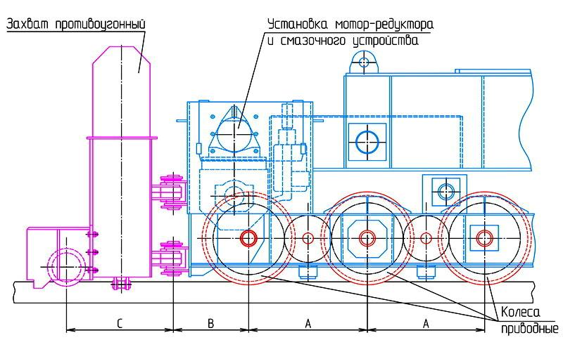 Схема магнитной траверсы со