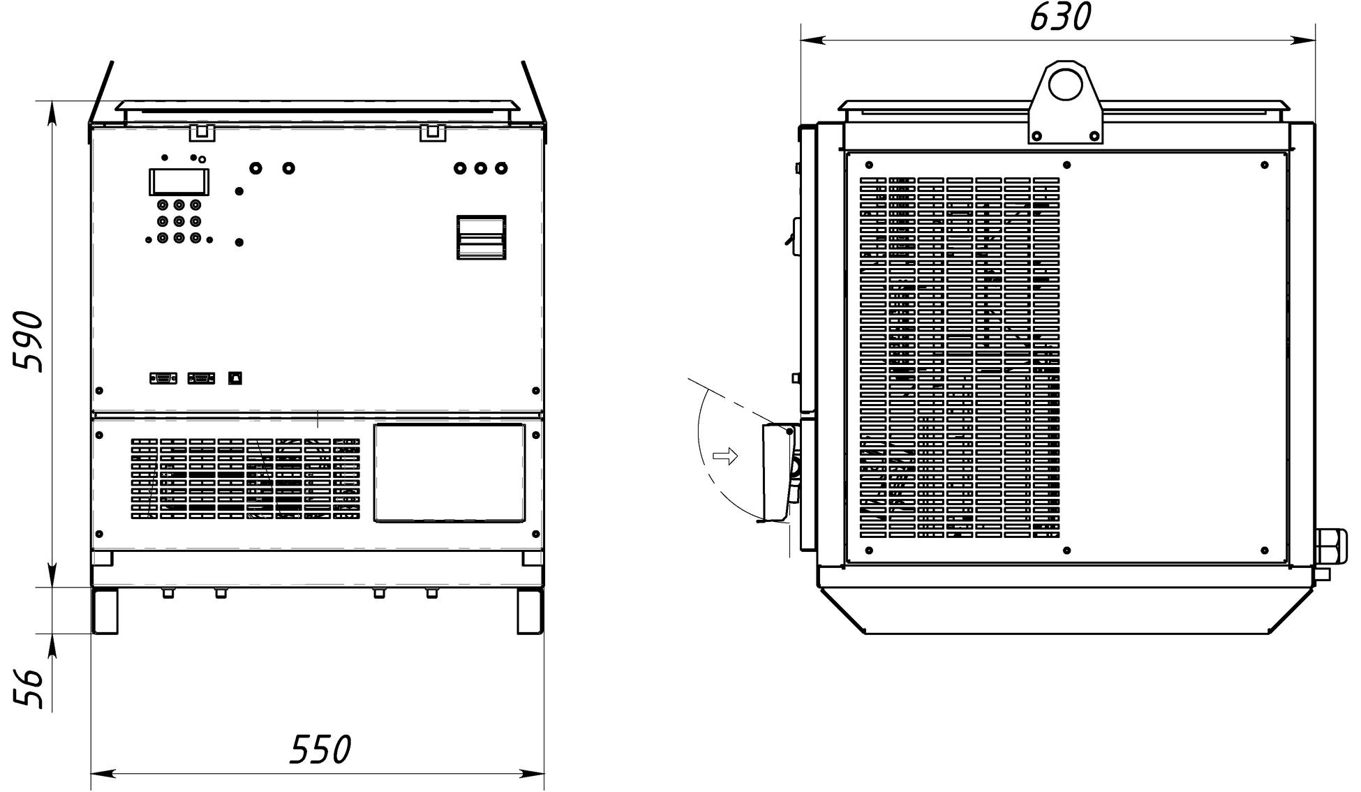 Габаритный чертеж СТ64-100-160