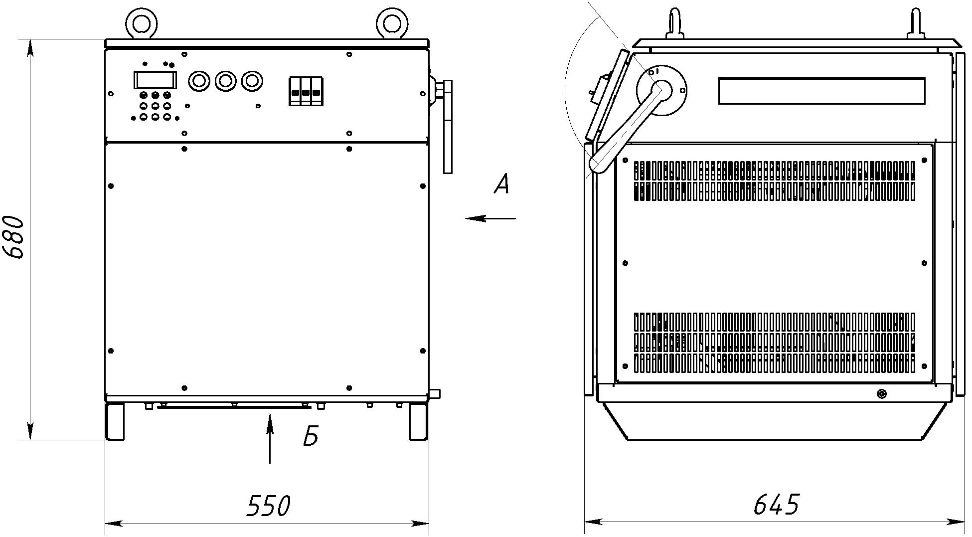 Габаритный чертеж СТ64-100-230