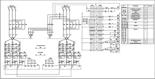 Принципиальная схема панели Б-6506