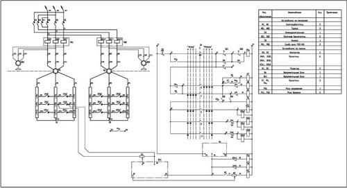 Принципиальная схема панели ДТА-63