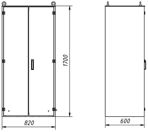 Габаритный чертеж К-63М исполнение IP54