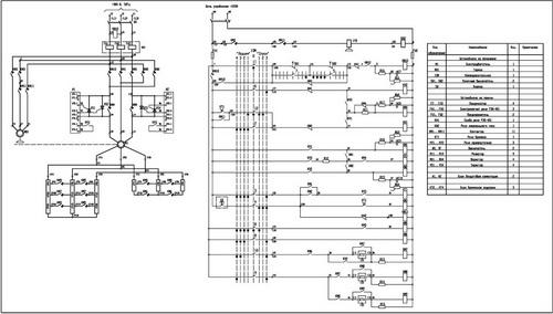 Принципиальная схема панели КC-250М