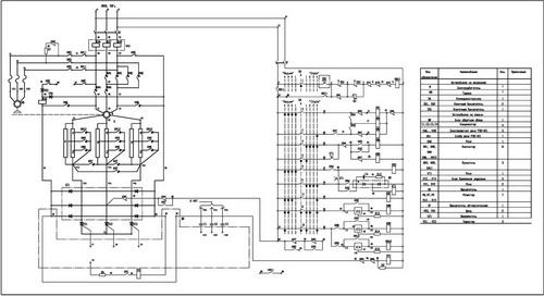 Принципиальная схема панели П6506