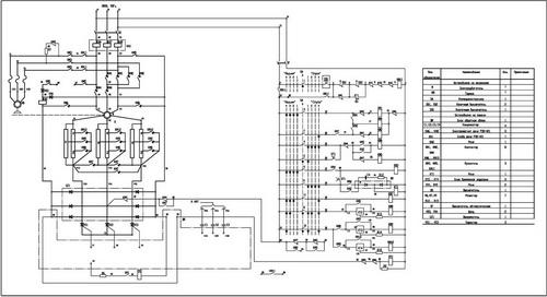Принципиальная схема панели П6507