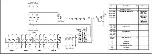 Принципиальная схема панели ПЗКБ-160